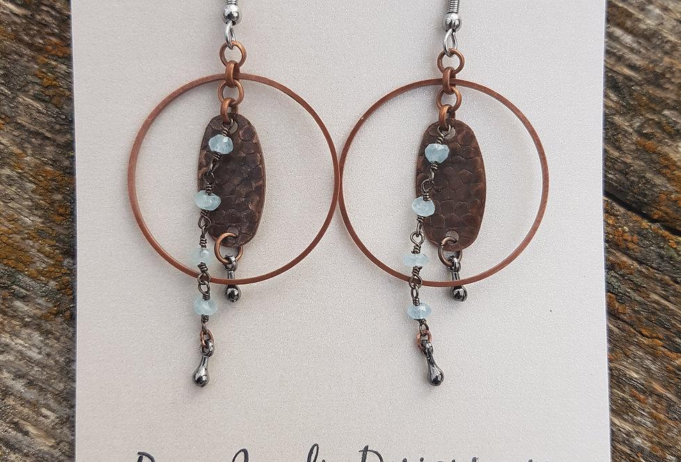 Milky aquamarine earrings