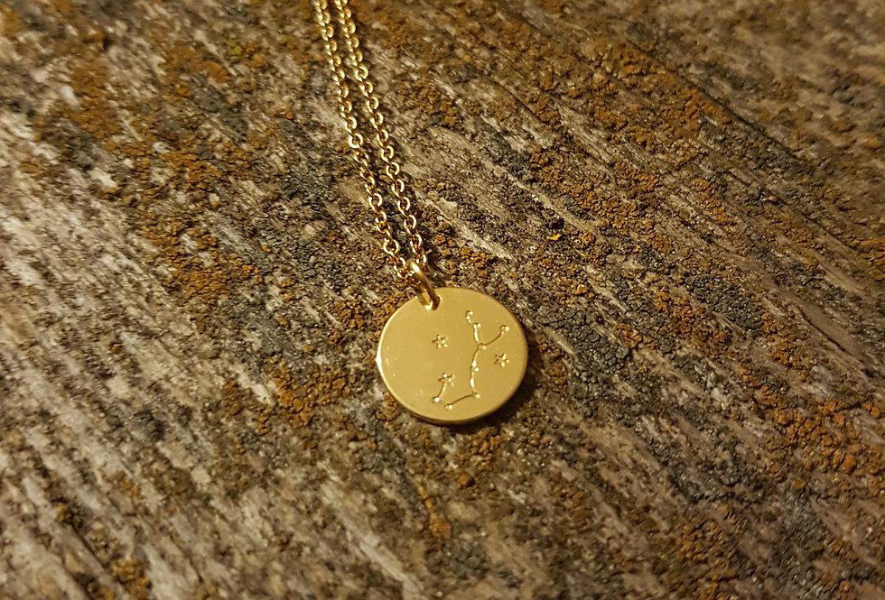 Scorpio constellation necklace