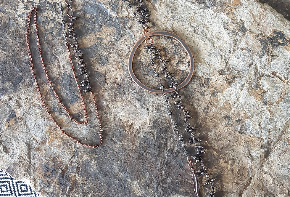 Gemstone Lariat-Dangle chain