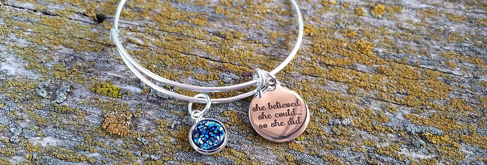 'She believed she could..so she did' bangle