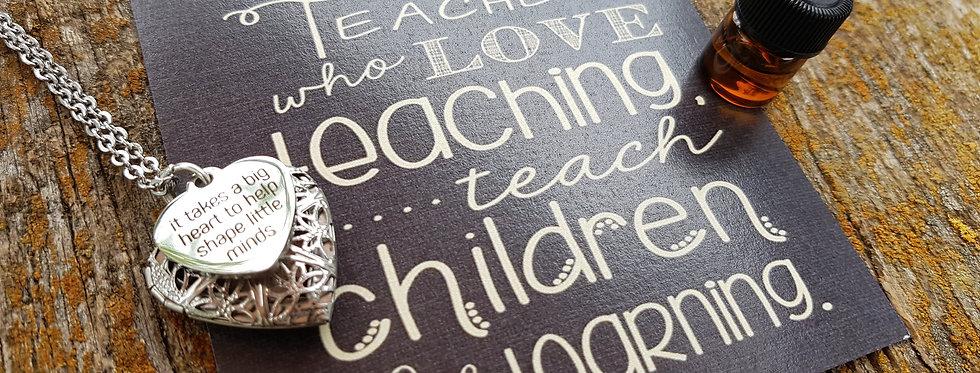 Teacher diffuser necklace