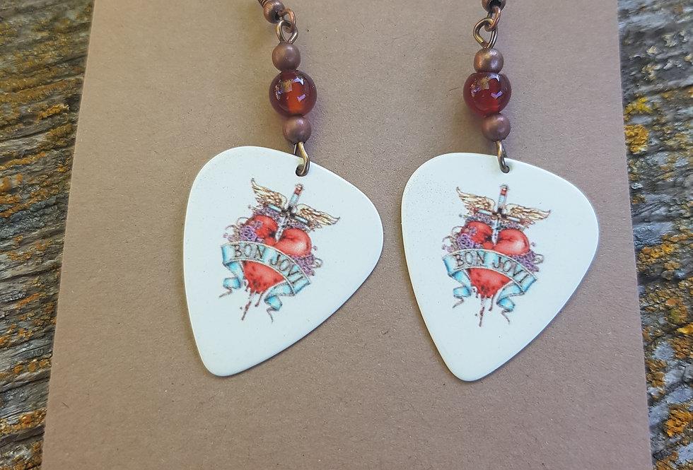 Bon Jovi pic earrings