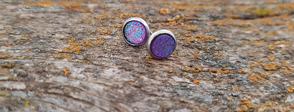 6mm purple studs