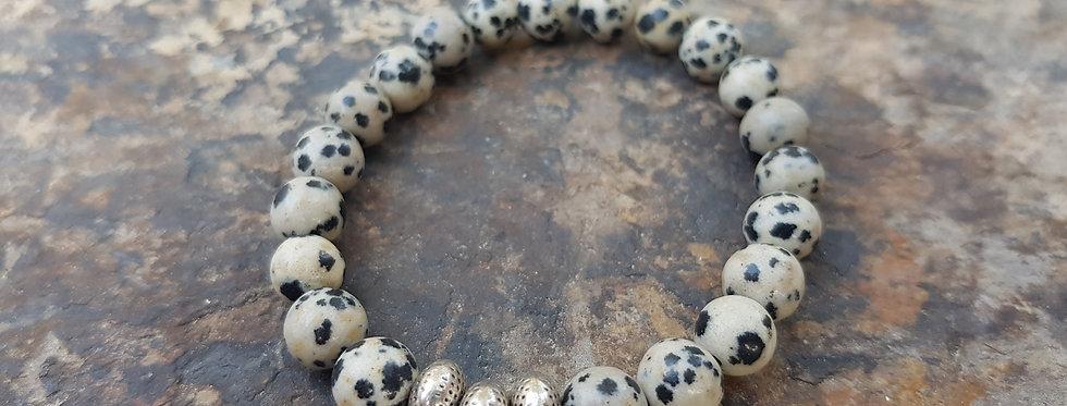 Dalmatian jasper stacker