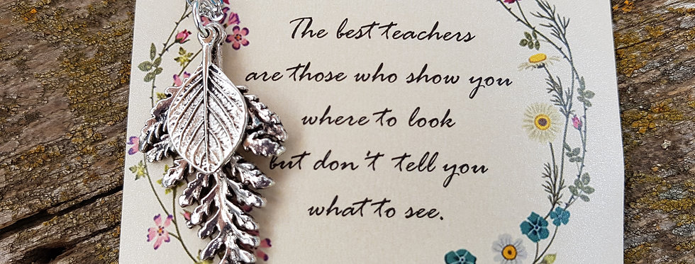 Leaf Necklace teacher gift