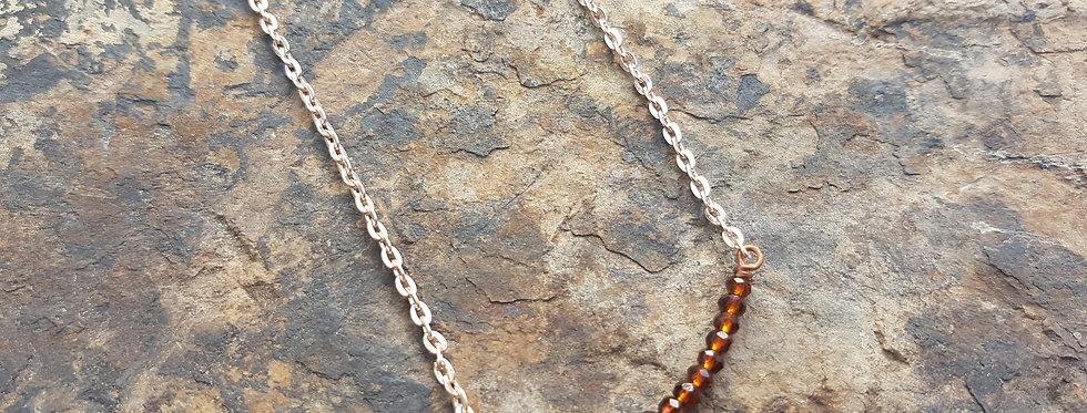 Topaz bar necklace