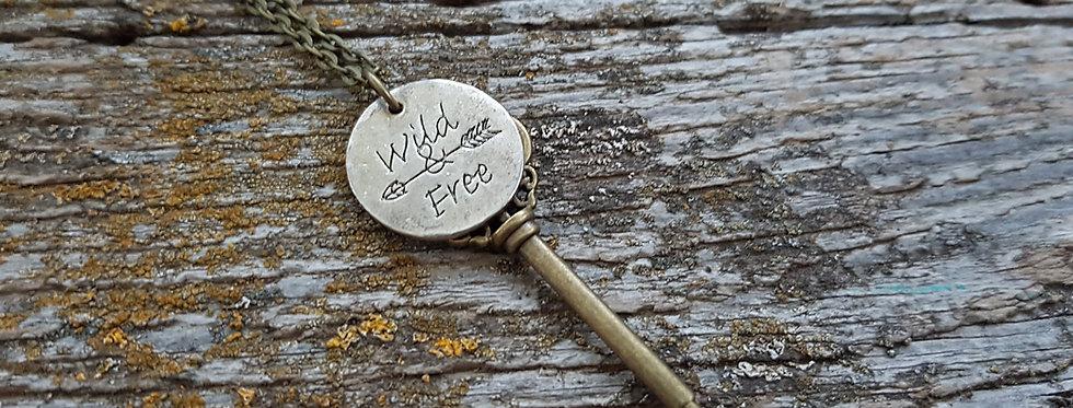 Wild and free key necklace