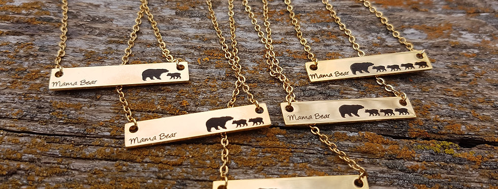 Gold Mama Bear necklaces