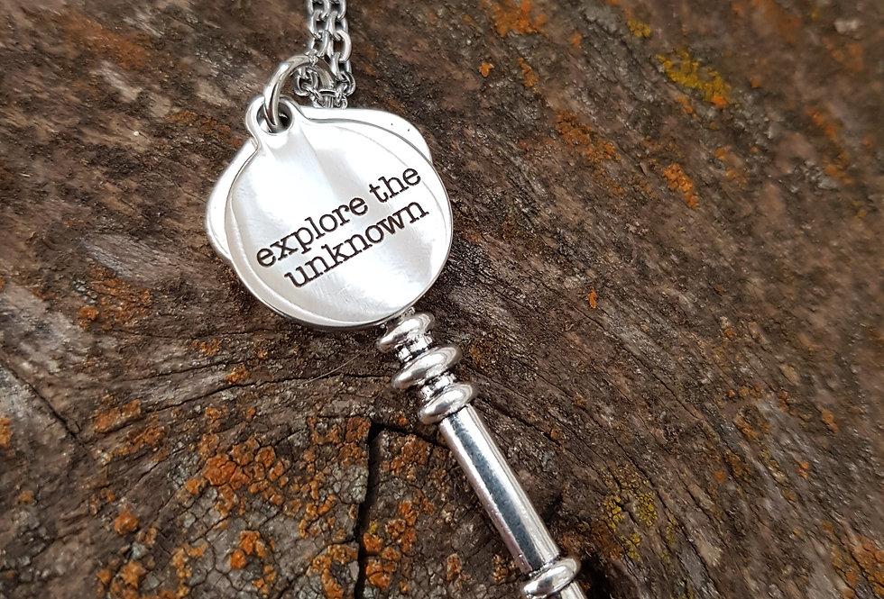 Explore key necklace