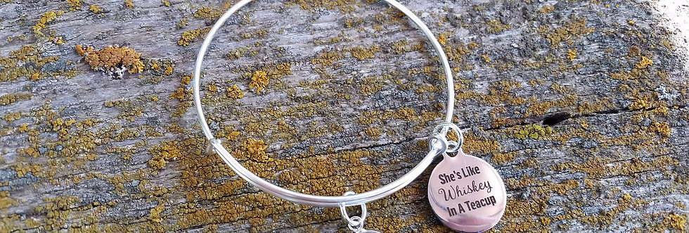 'She's like Whiskey in a Teacup' bangle