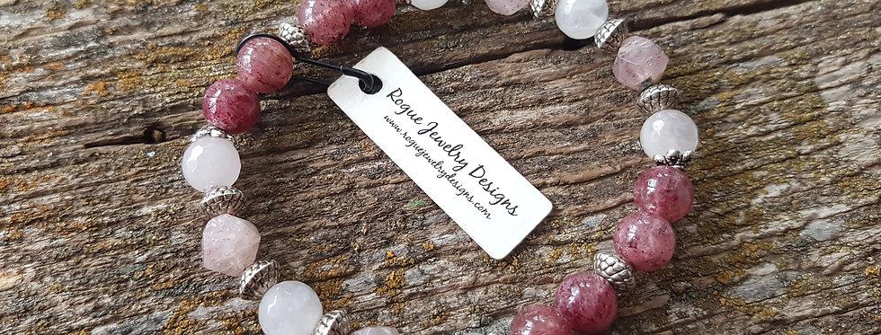 Rose quartz/strawberry quartz stacker