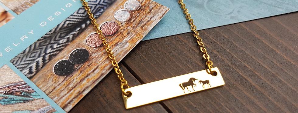 Unicorn mama necklace