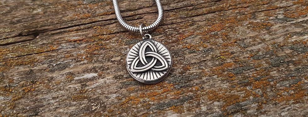 Trinity knot celtic necklace