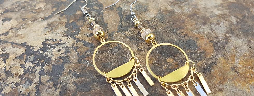 Smokey solstice gemstone earrings