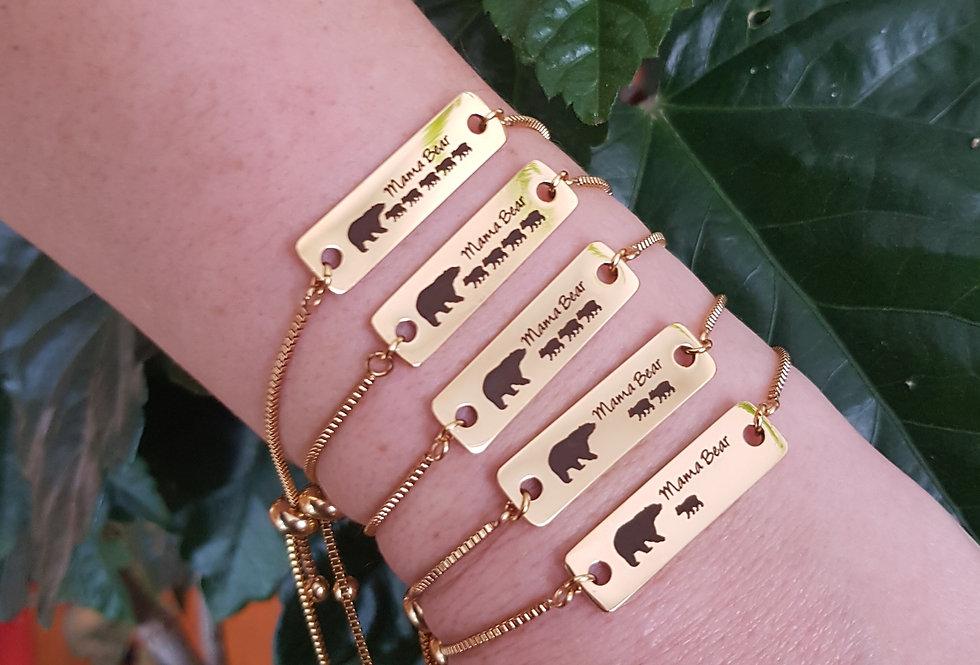 Gold mama bear bracelets