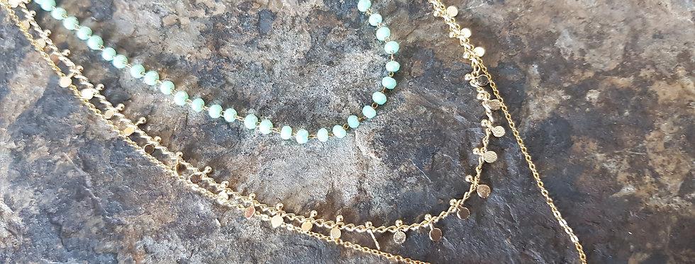 Aurora Necklace-Aquamarine