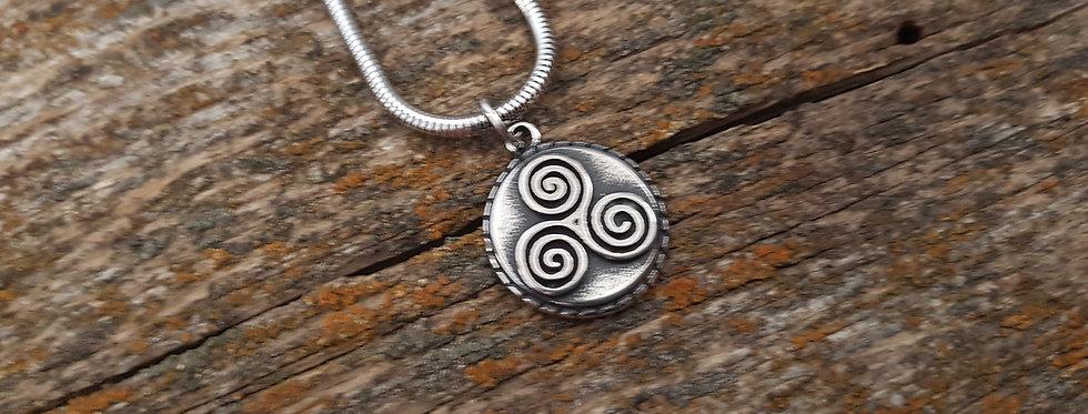 Celtic triskele necklace