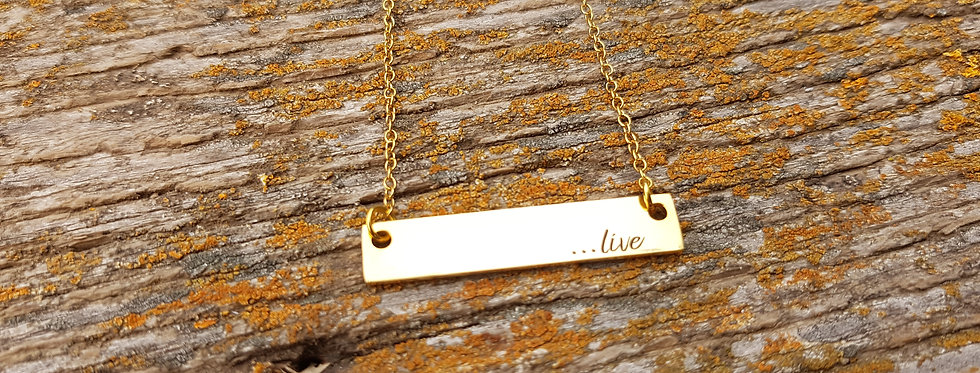 Live bar necklace
