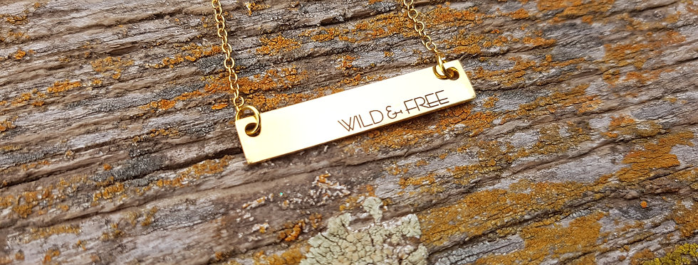 Wild and Free bar necklace