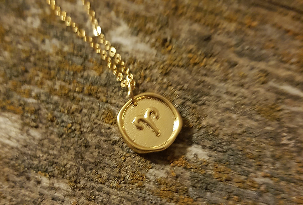 Aries wax seal necklace