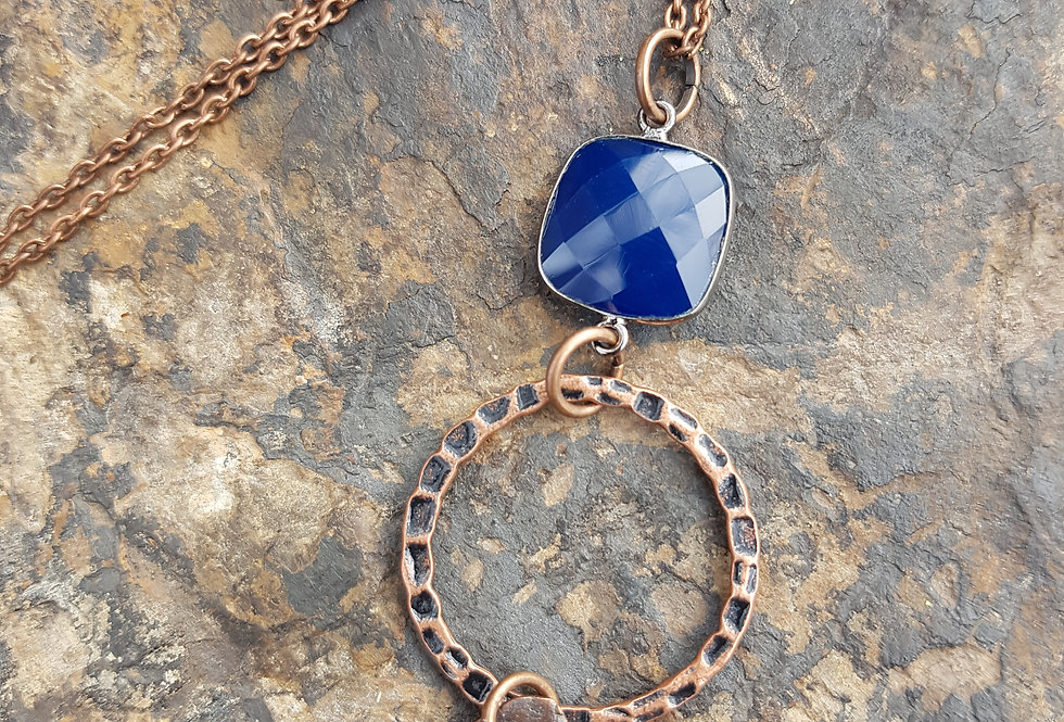 Sapphire Chalcedony Necklace