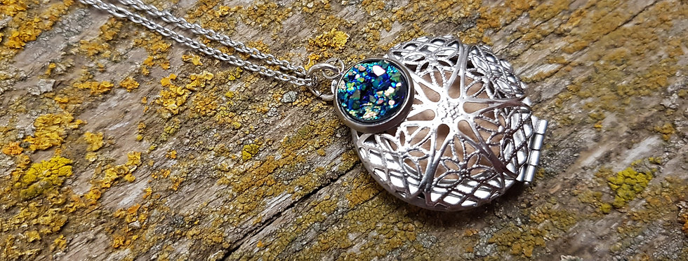 Stainless steel druzy diffuser