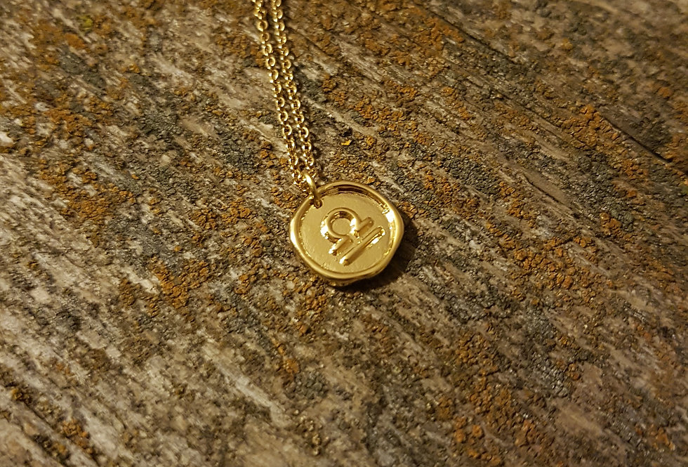 Libra wax seal necklace