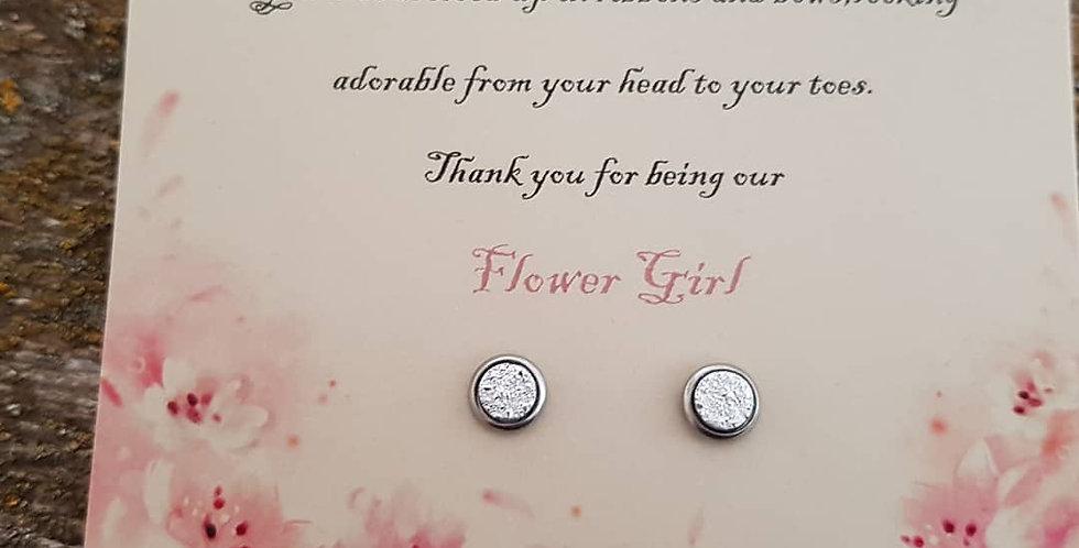 Flower girl studs