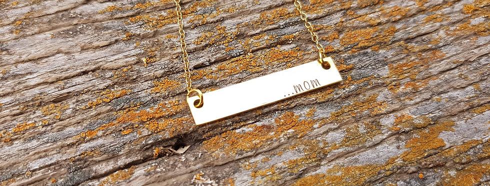 Mom bar necklace