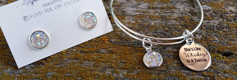 'She's like Whiskey in a Teacup' bangle set