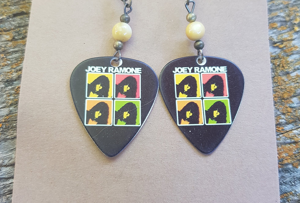 Ramones pic earrings