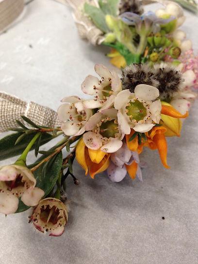 BAM botanics floral crown floristry work
