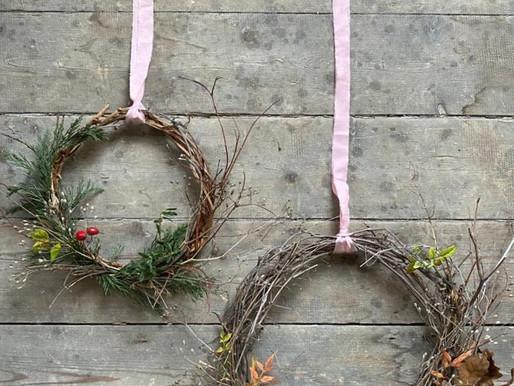 Found & foraged virtual wreath workshop!