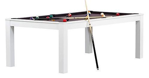 Billard Blanc Boisé Convertible en Table 7Ft Blanc