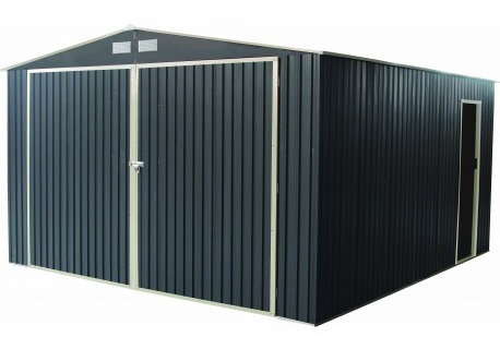 Garage en Métal Anthracite 19.61m2
