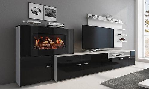 Meuble Tv avec cheminée intégrée