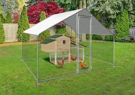 Enclos avec Poulailler 6m²