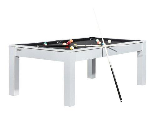 Billard Convertible en Table 7Ft Gris Tapis Noir
