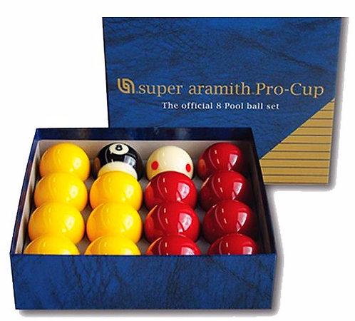 """Billes Super Aramith Pool Casino """"Pro Cup"""" 50.8mm"""