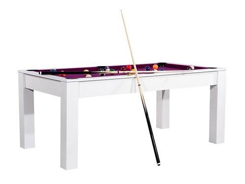 Billard Américain convertible en table 6Ft Blanc Structurer