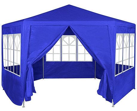 Tonnelle Hexagonale Bleu 4m X2.75m