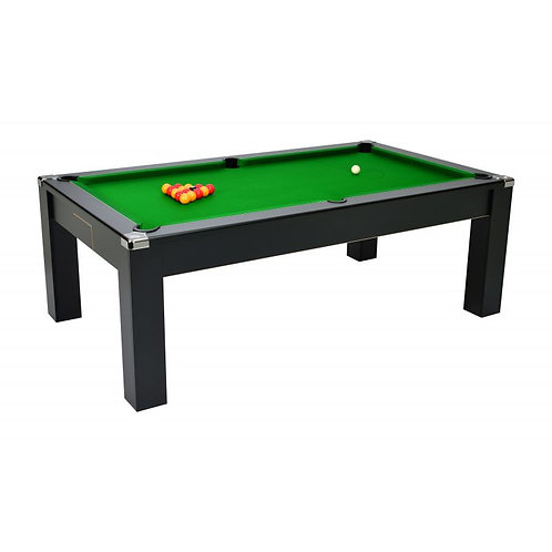 Billard convertible en table 7ft Noir