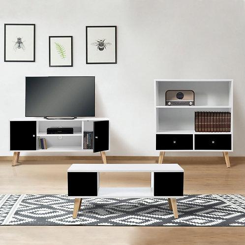 Ensemble Meuble Tv / Table Basse / Bibliothèque