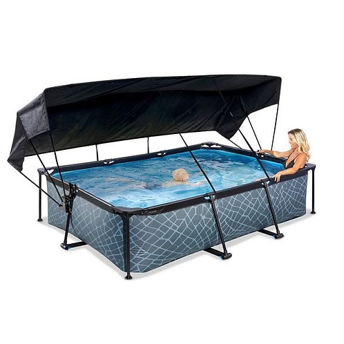piscine avec Toile D'ombrage 3m X 2m x 65cm