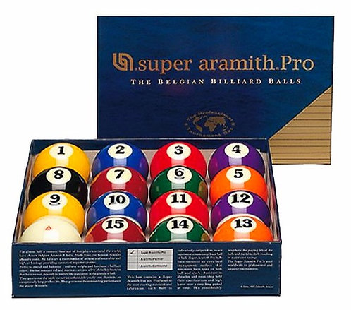 """Billes US """"Super Aramith Pro"""" 57.2mm"""