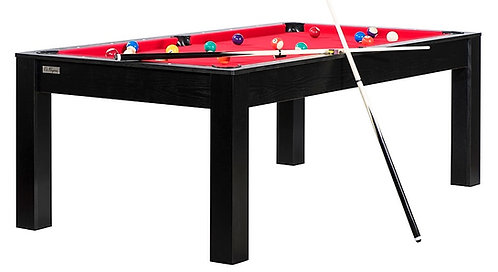 Billard Convertible en Table 7Ft Noir Boisé