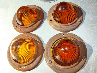 vintage bee hive glass marker lights