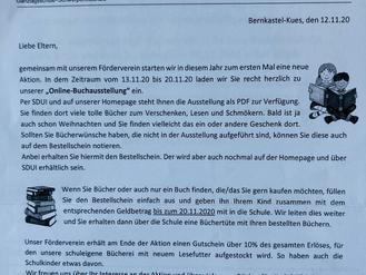 """12.11.20 Online-Buchausstellung """"Lesen ist wie Kino im Kopf"""""""