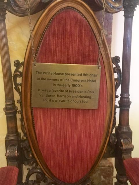 Presidents Chair plaque