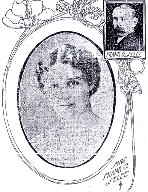 May Grant Selee with husband Frank G. Selee